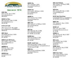image about Printable Directory named PRINTABLE Listing - Alta Mesa